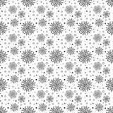 Nahtloser Vektor-Hintergrund mit Schneeflocken Stockbilder
