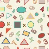 Nahtloser Vektor von Zahlen und geometrisch Stockfotografie