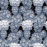 Nahtloser vektorblumenmuster Stockfoto