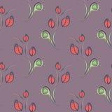 Nahtloser vektorblumenmuster Dekorativer dekorativer Hintergrund mit Rosen, Blättern und dekorativen Elementen Lizenzfreies Stockfoto
