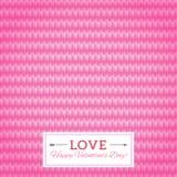 Nahtloser Vektorhintergrund des Herzens. Glückliche Valentinstag-Karte. Se Lizenzfreie Stockfotografie