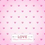 Nahtloser Vektorhintergrund des Herzens. Glückliche Valentinstag-Karte. Se Stockfotografie