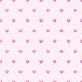 Nahtloser Vektorhintergrund des Herzens. Nahtloses Muster kann verwendetes f sein Stockfoto