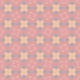 Nahtloser Vektormusterhintergrund mit stilisierten geometrischen Rosen lizenzfreie abbildung