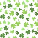 Nahtloser Vektorshamrockhintergrund für Tag St. Patricks Stockfotografie