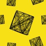Nahtloser Würfel des Musters 3D, Illustration stock abbildung