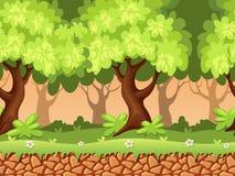 Nahtloser Waldhintergrund Stockbild