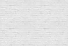 Nahtloser weißer Backsteinmauermusterhintergrund Stockfoto