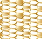 Nahtloser weißer Hintergrund der Hexagone lizenzfreie abbildung