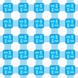 Nahtloser weißer und blauer Hintergrund vektor abbildung