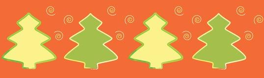 Nahtloser Weihnachten-Baum Rand. lizenzfreie abbildung