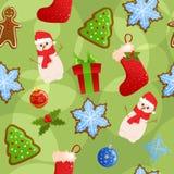 Nahtloser Weihnachtshintergrund Stockbilder