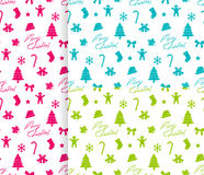 Nahtloser Weihnachtshintergrund Stockfotos