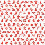 nahtloser Weihnachtshintergrund besteht aus Ikonen lizenzfreie abbildung