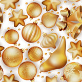 Nahtloser Weihnachtshintergrund ENV 10 Stockbild
