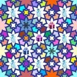 Nahtloser Weihnachtshintergrund mehrfarbig Lizenzfreies Stockfoto