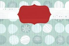 Nahtloser Weihnachtshintergrund mit Fahne Stockfoto