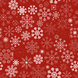Nahtloser Weihnachtsschneeflocken-Hintergrund Stockbild