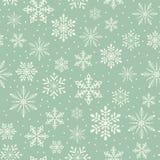 Nahtloser Weihnachtsschneeflockenhintergrund Stockfoto