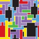 Nahtloser wiederholender Hintergrund von einer Vielzahl des rechteckigen shap Stockbilder