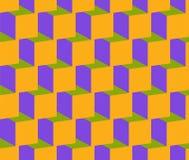 Nahtloser wiederholender isometrischer Hintergrund Lizenzfreies Stockbild