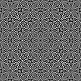 Nahtloser wiederholter geometrischer Kunstmusterschwarzweiss-hintergrund Gewebe, Bücher lizenzfreie abbildung