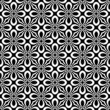 Nahtloser wiederholter geometrischer Kunstmusterschwarzweiss-hintergrund Gewebe, Bücher stock abbildung