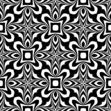 Nahtloser wiederholter geometrischer Kunstmusterschwarzweiss-hintergrund Gewebe, Bücher vektor abbildung