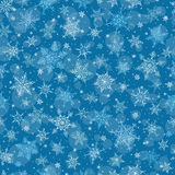 Nahtloser Winter-Hintergrund - Schneeflocken-Muster-Illustration Lizenzfreies Stockfoto