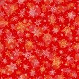 Nahtloser Winter-Hintergrund - Schneeflocken-Muster-Illustration Lizenzfreie Stockfotos