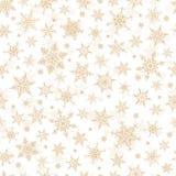 Nahtloser Winter-Hintergrund - Schneeflocken-Muster-Illustration Lizenzfreie Stockfotografie