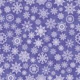 Nahtloser Winterhintergrund mit Schneeflocken lizenzfreie abbildung