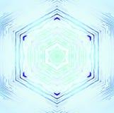Nahtloser zentrierter Hexagonmustertürkis glänzend und empfindlich vektor abbildung