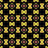 Nahtloses abstraktes ausführliches Muster in den warmen Farben Stockfotos