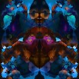 Nahtloses abstraktes Bindungsfärbungsmuster Lizenzfreies Stockfoto