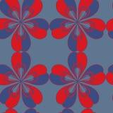 Nahtloses abstraktes blaues Muster Stockbilder