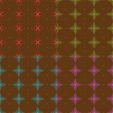 Nahtloses abstraktes Blumen-Muster Lizenzfreies Stockfoto