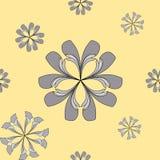 Nahtloses abstraktes Blumenmuster Lizenzfreie Stockfotos