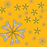 Nahtloses abstraktes Blumenmuster Lizenzfreies Stockfoto