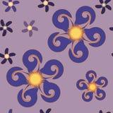 Nahtloses abstraktes Blumenmuster Stockbilder