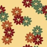 Nahtloses abstraktes Blumenmuster Stockbild