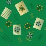 Nahtloses abstraktes Blumenmuster Stockfotografie