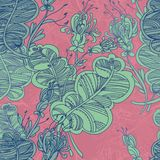Nahtloses abstraktes Blumenmuster Lizenzfreie Stockfotografie