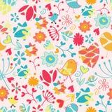 Nahtloses abstraktes Blumenmuster Lizenzfreie Stockbilder