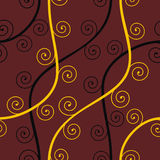 Nahtloses abstraktes braunes Muster Stockfoto