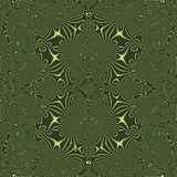 Nahtloses abstraktes dekoratives grünes Muster Lizenzfreie Stockfotografie