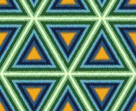 Nahtloses abstraktes Dreieck deckt Hintergrund mit Ziegeln Stockbilder