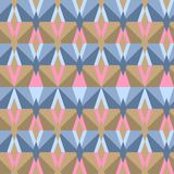 Nahtloses abstraktes Dreieckmuster Stockfotografie