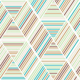 Nahtloses abstraktes Geometriehintergrundmuster Lizenzfreies Stockfoto