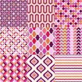 Nahtloses abstraktes geometrisches Muster Stockfotografie